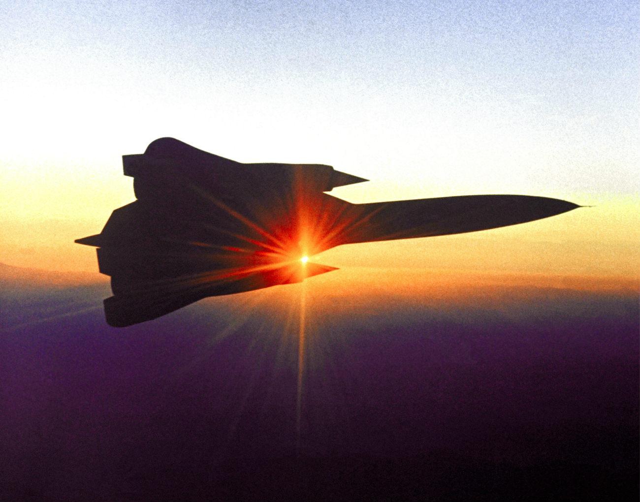 Lockheed YF-12 - Iconic sunrise shot