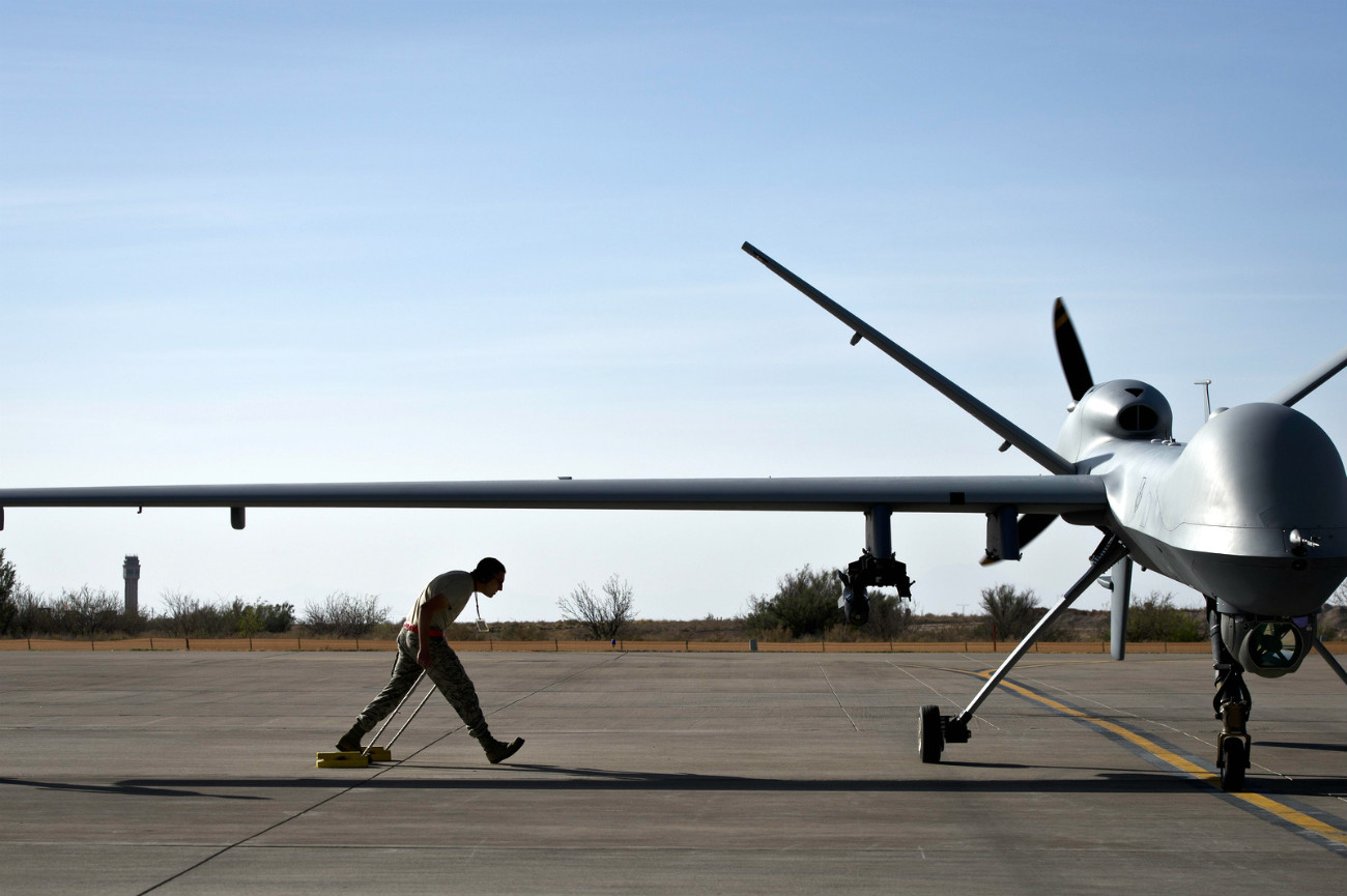 MQ-9 Reaper - After taxiing