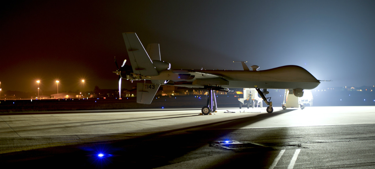 MQ-9 Reaper on the flightline