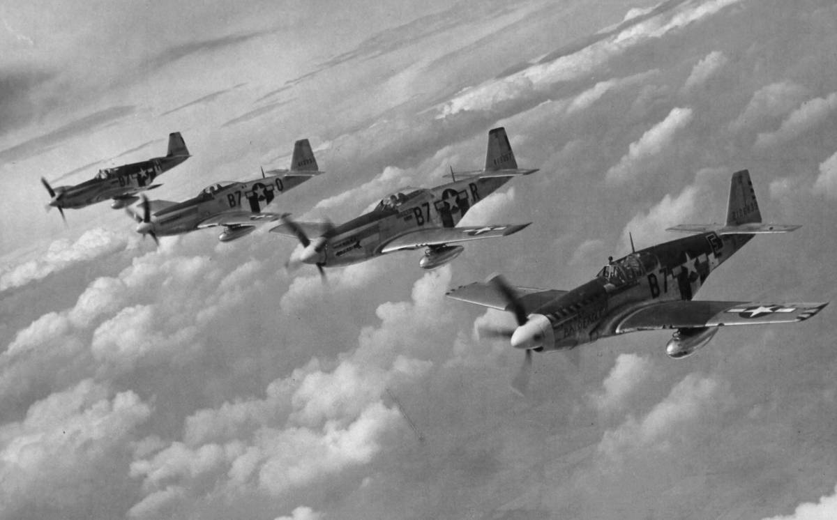 A Flight of USAF Mustangs