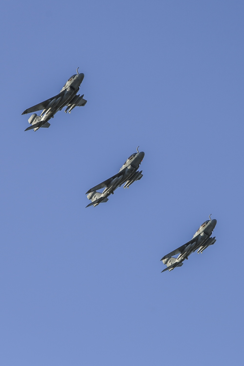Three Prowlers in Flight