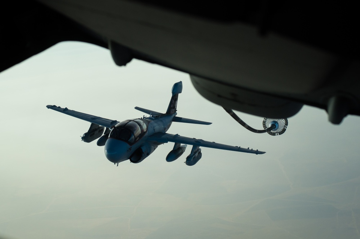 A EA-6B Prowler After Refueling