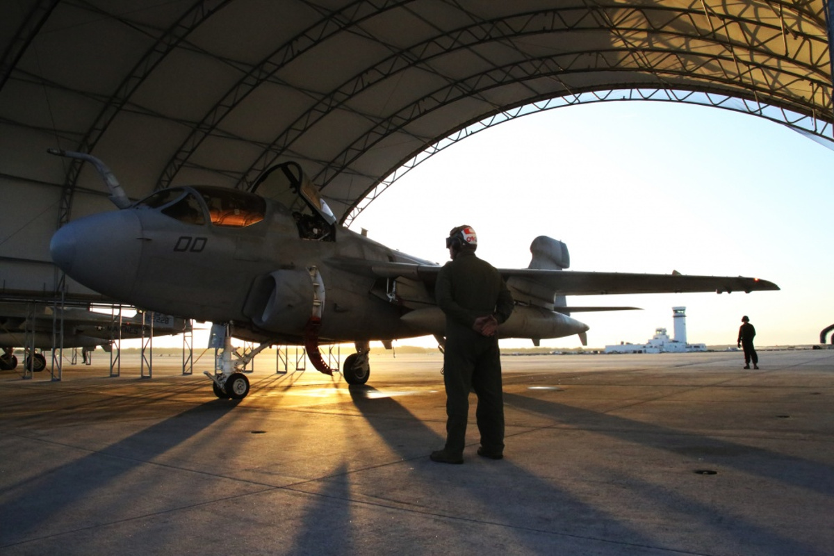 A USMC EA-6B Prowler Preparing for Its Last Deployment