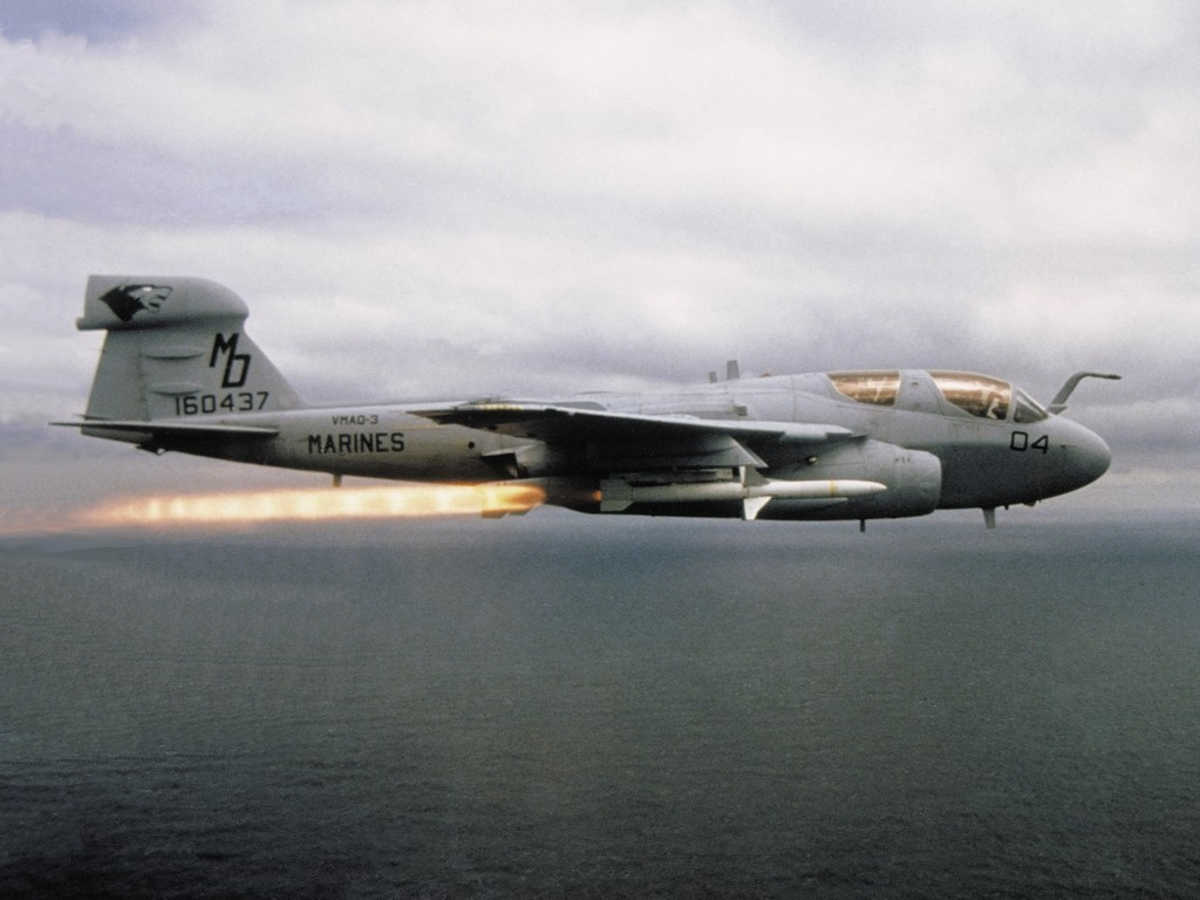 USMC EA-6B Prowler Missile Launch