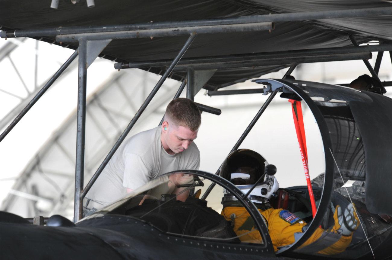 U-2 pilot prepares