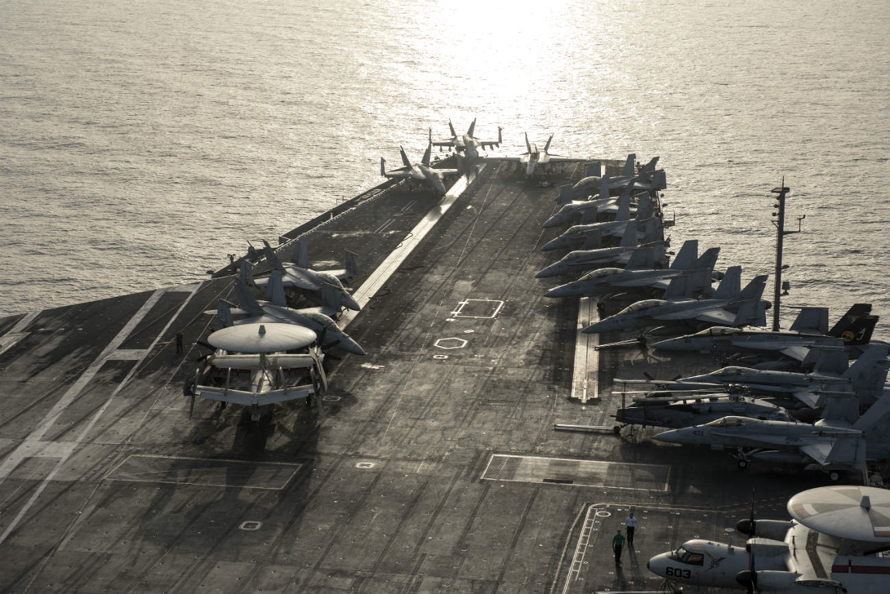 USS George HW bush US Aircraft Carrier images