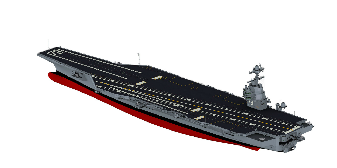 USS Gerald R Ford - 3D rendering