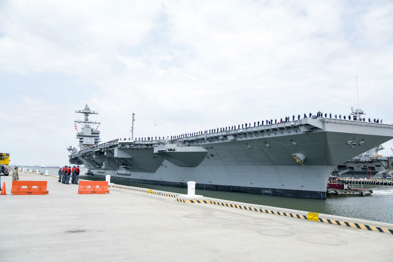 USS Gerald R Ford - Arrives at Naval Station Norfolk