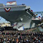 USS Gerald R Ford - Christening