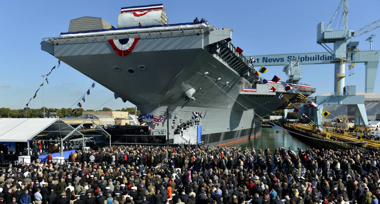 USS Gerald R Ford - Christening