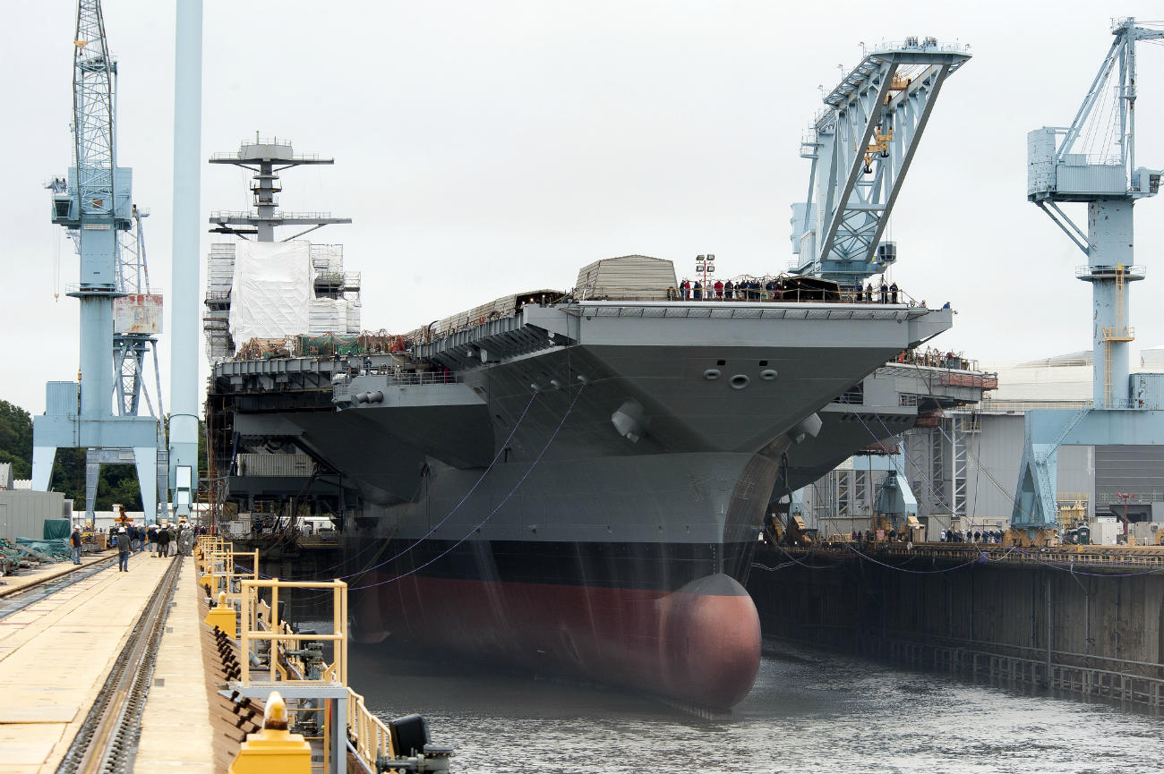 USS Gerald R Ford - Floated for the first time