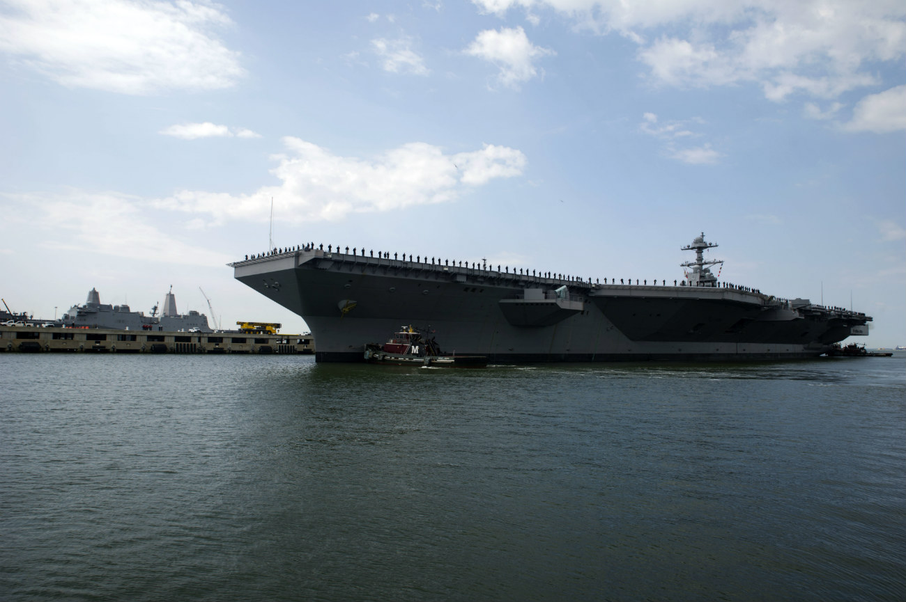 USS Gerald Ford Aircraft Carrier Images