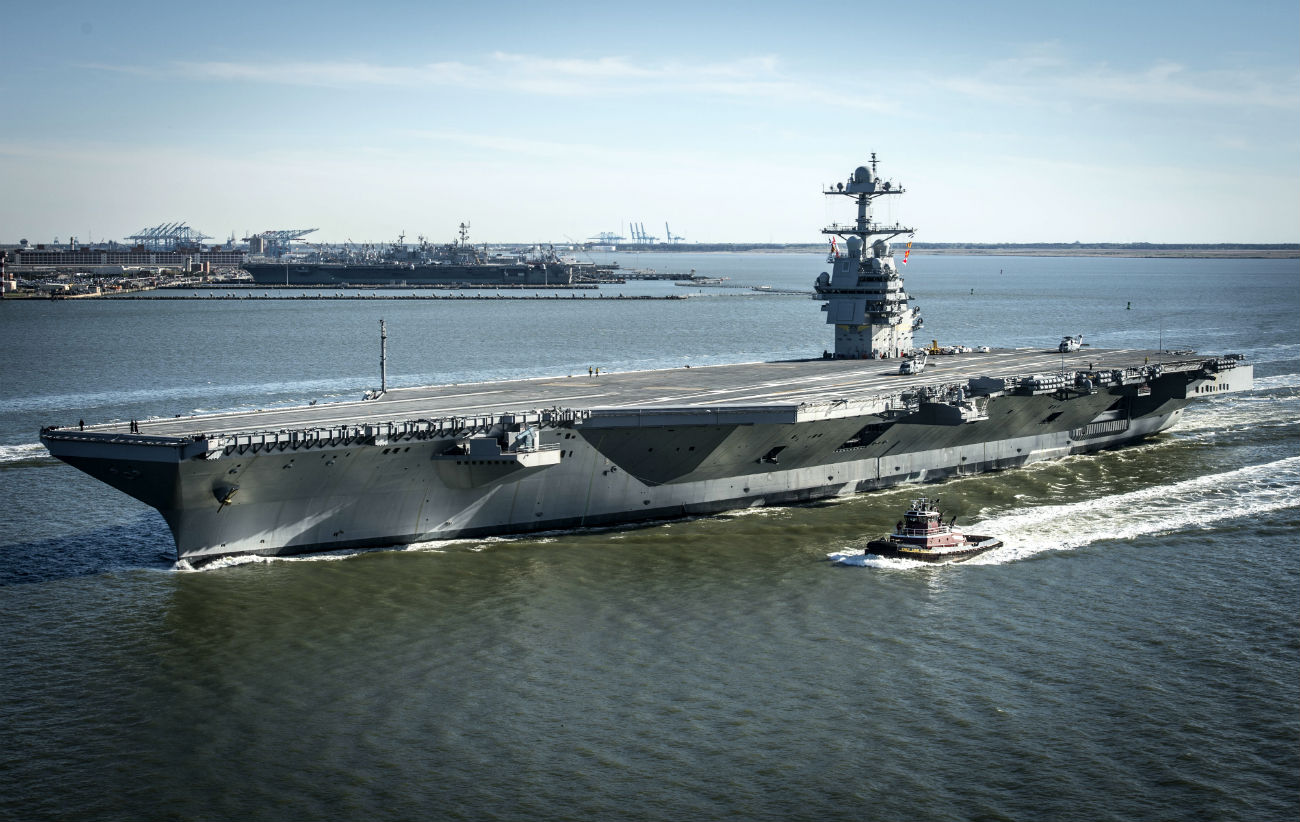 USS Gerald R Ford - On its own power for the first time