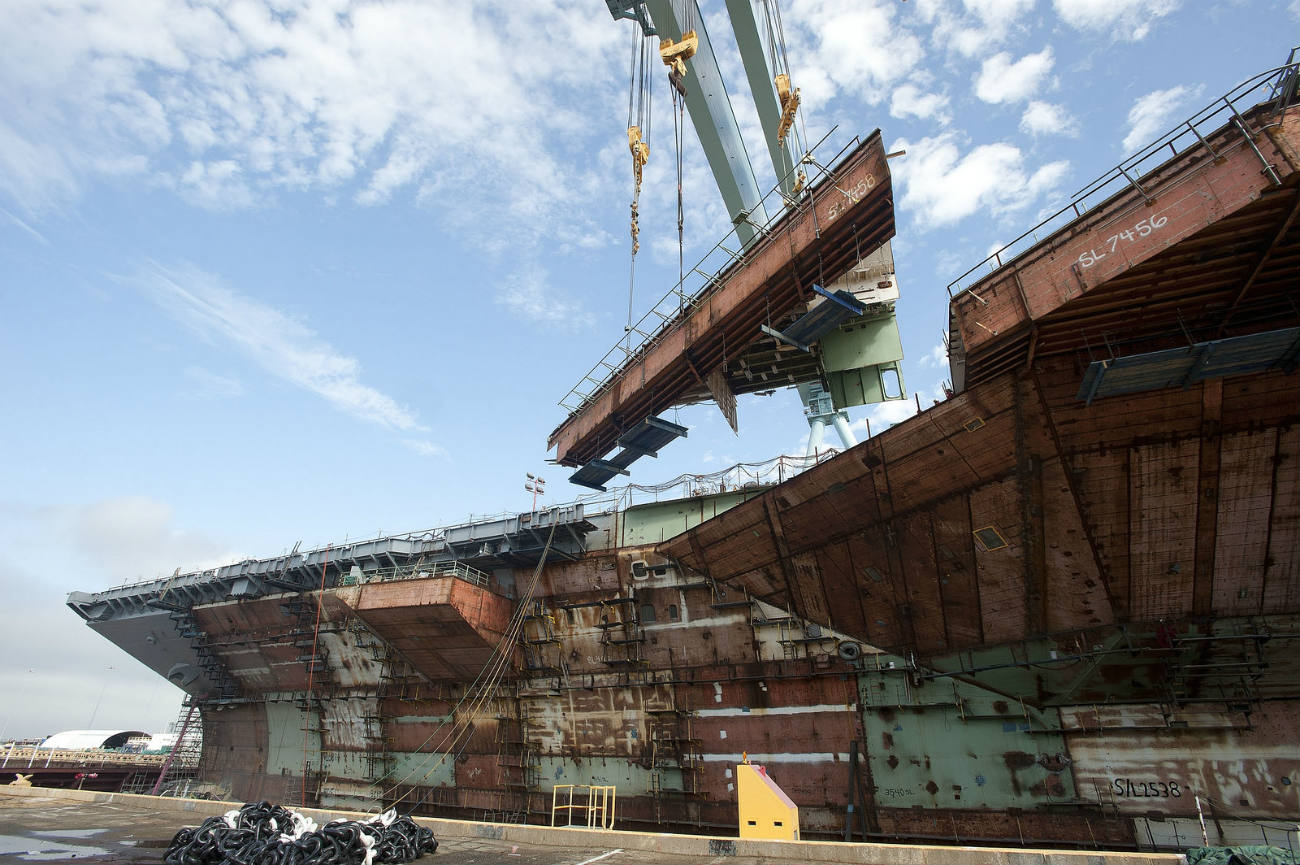 USS Gerald R Ford - Primary hull structure complete