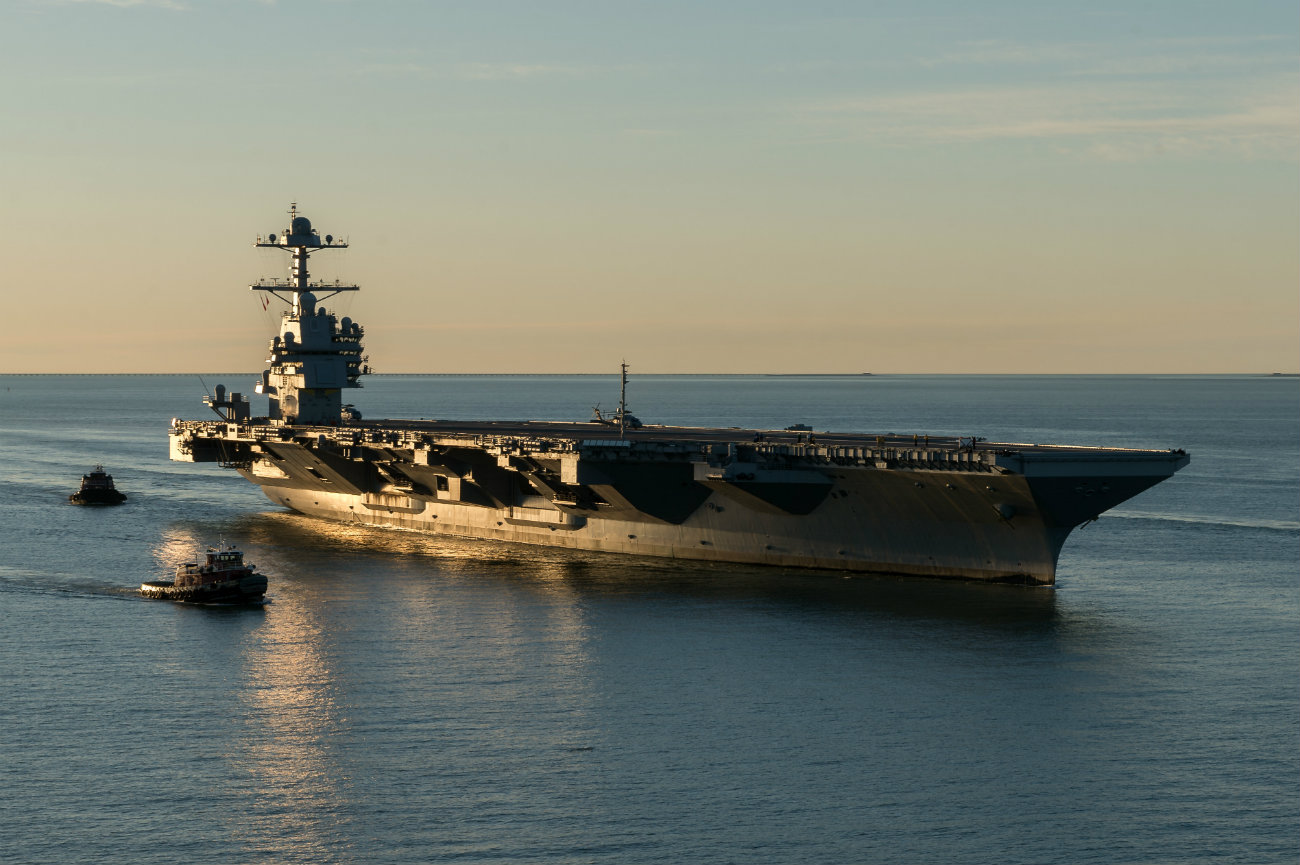 USS Gerald R Ford - Pulls into Naval Station Norfolk