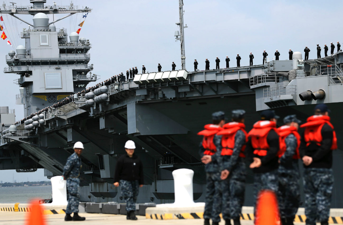 USS Gerald R Ford - Returns From Builder's Sea Trials