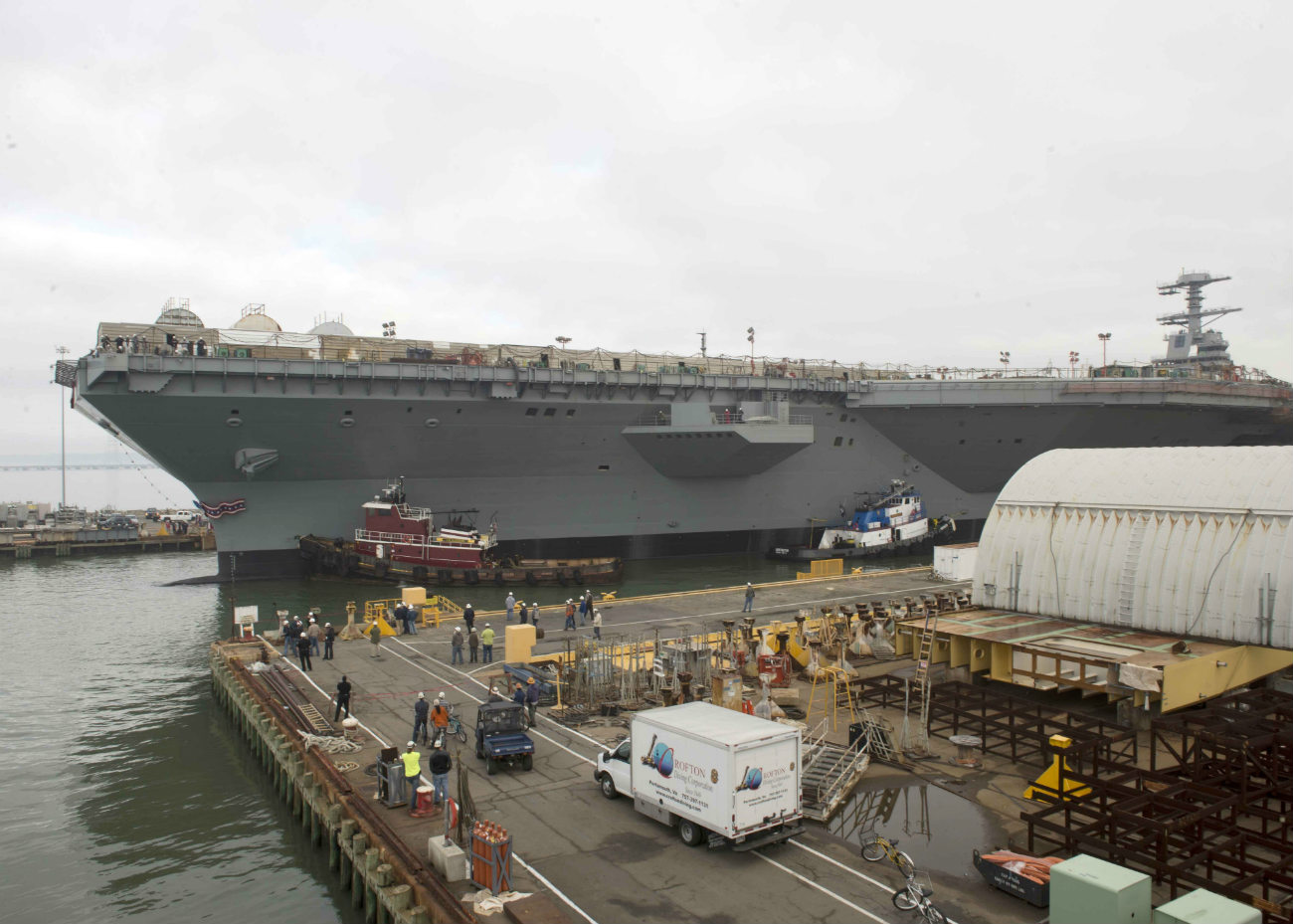 USS Gerald R Ford - Transit to Newport News Shipyard