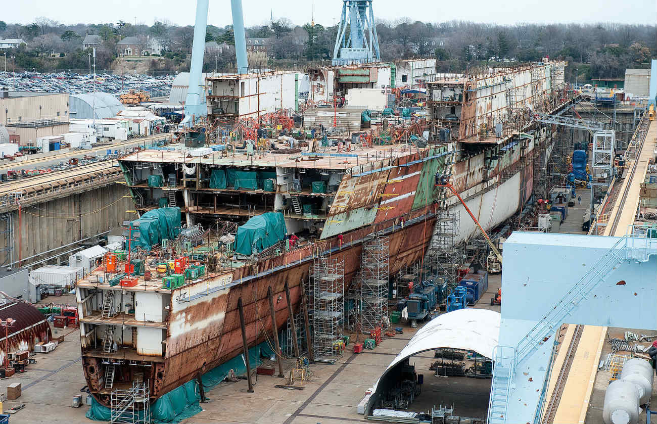 USS Gerald R Ford - Under construction