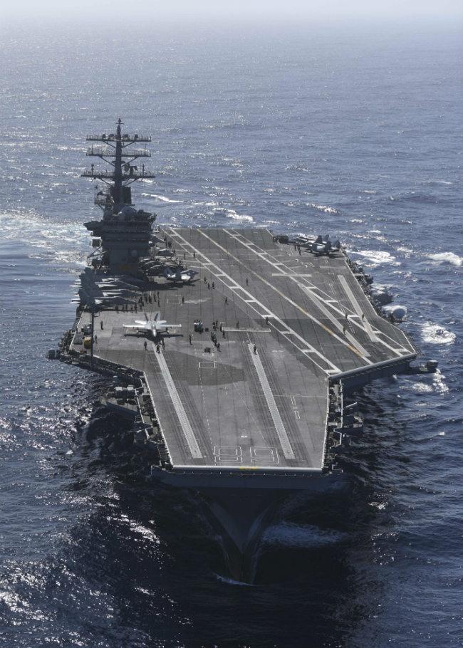 USS Nimitz front