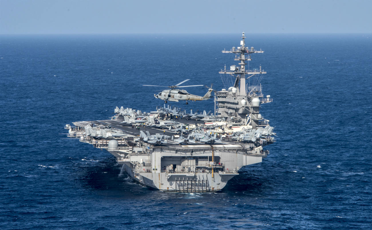 USS carl Vinson back