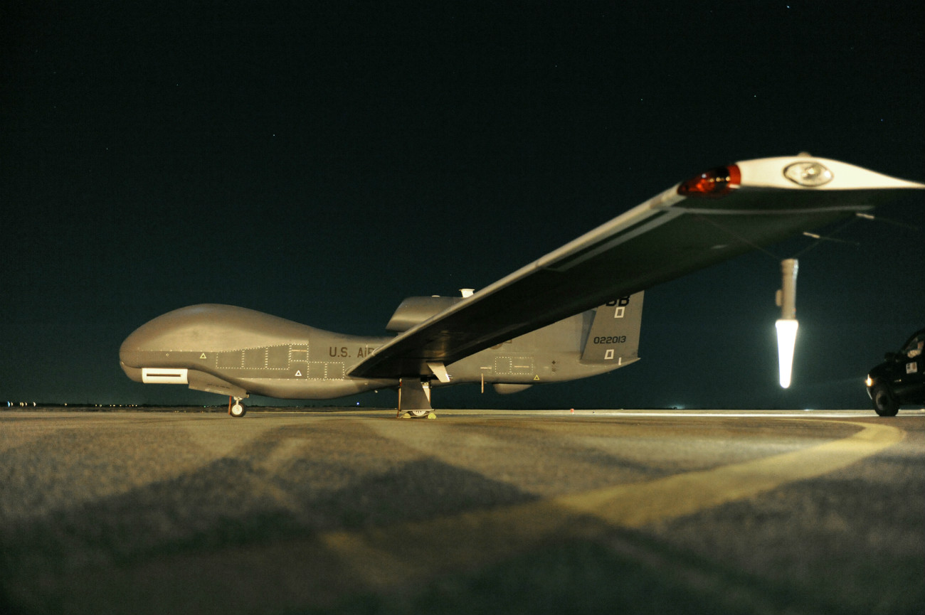 Military Drones - Globalhawk - On the flight line