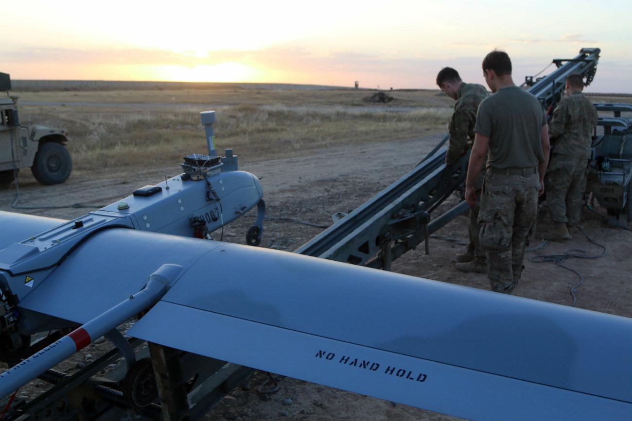 RQ-7 Shadow - Preparing to launch