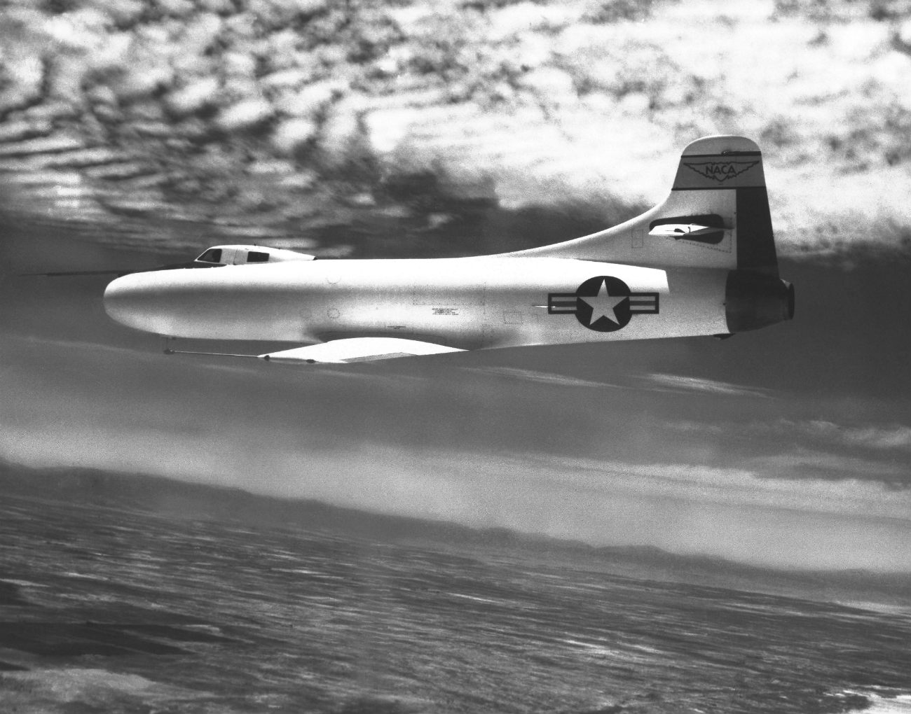 Douglas D-558-I Skystreak cruising altitude