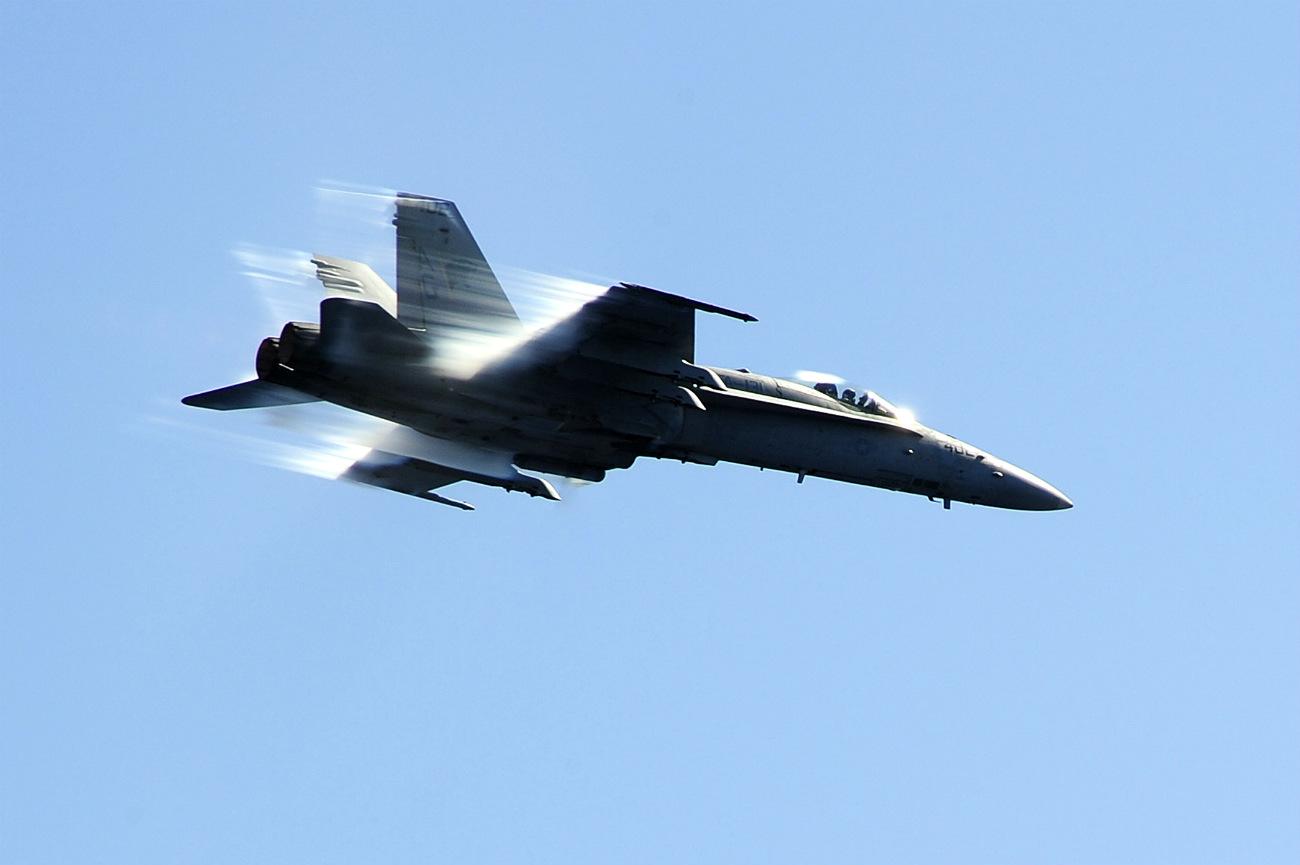 FA-18C Hornet breaks the sound barrier