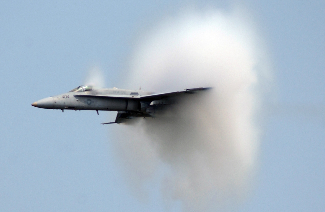 FA-18C beaking the sound barrier