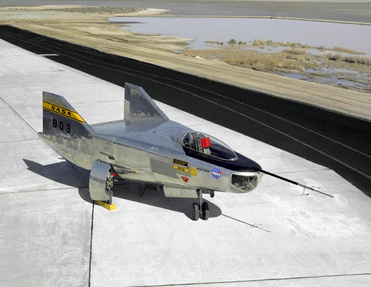 M2-F2 Lifting Body on the flight path
