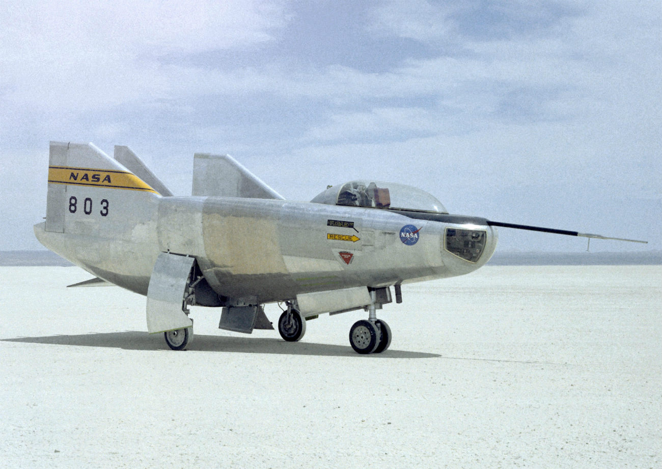 M2-F3 Lifting Body on the flight line