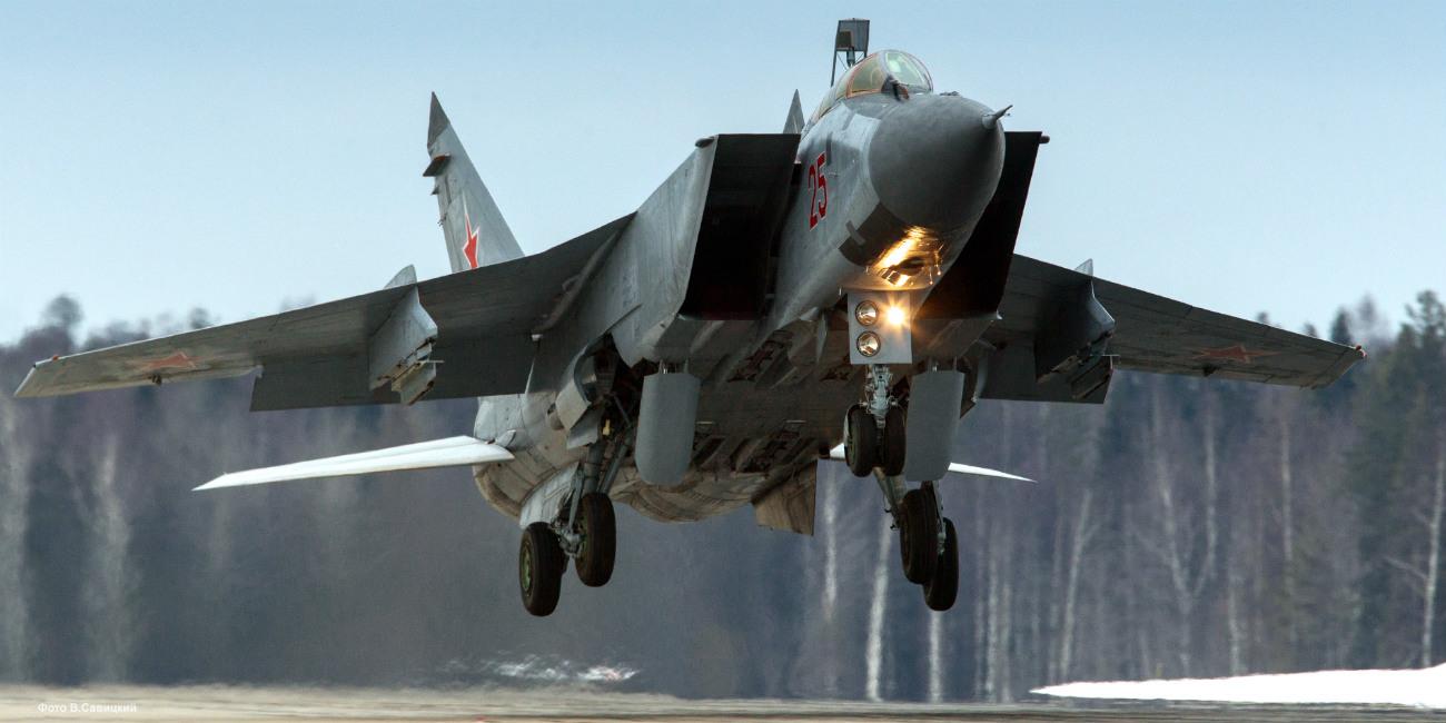 Mikoyan-Gurevich MiG-31 taking off