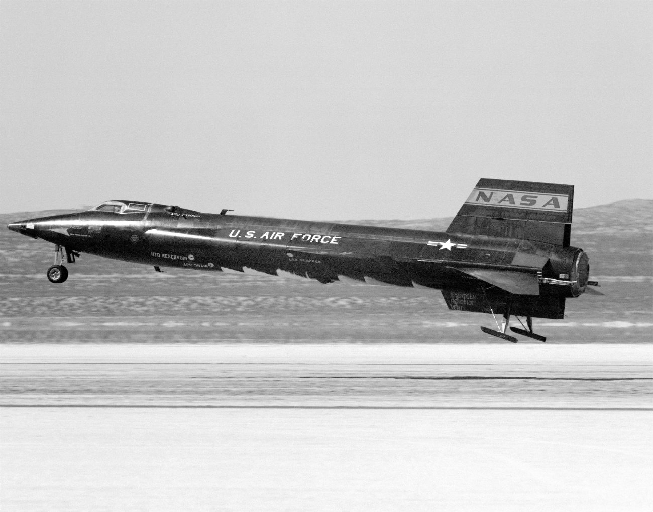 North American Aviation X-15 taking off