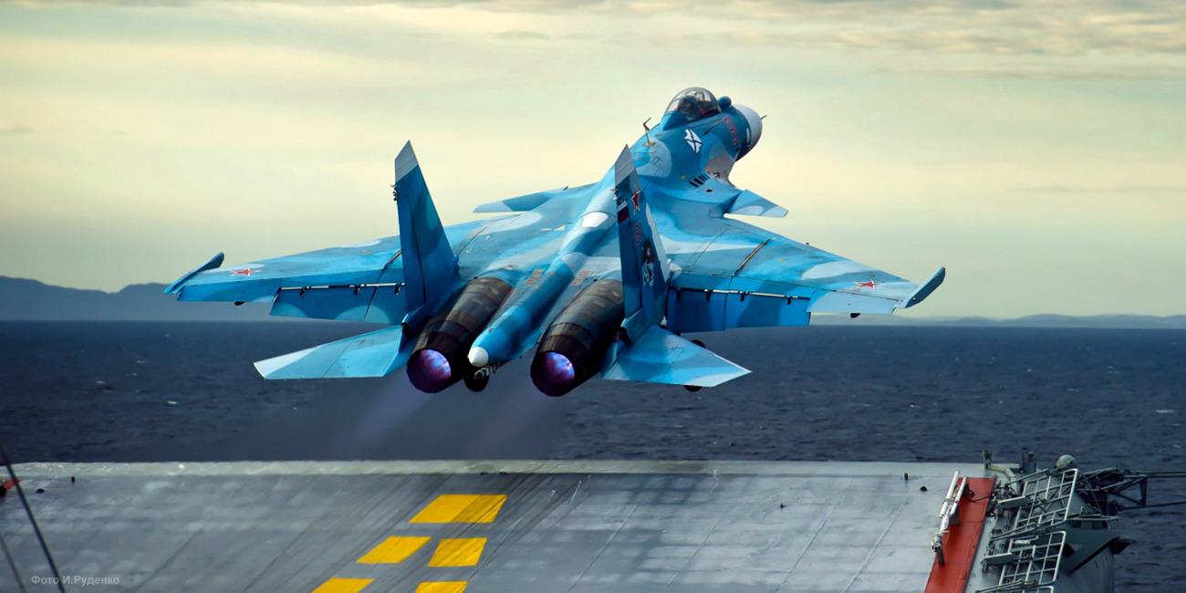 Sukhoi Su-33 launching