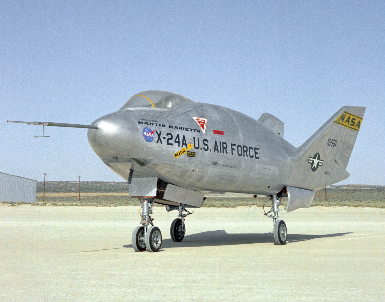 X-24A Lifting Body on the flight path