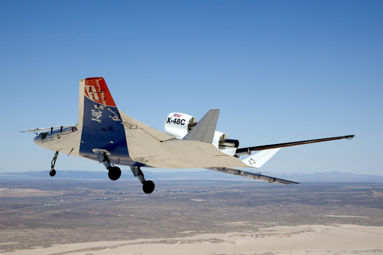 X-48C Hybrid Wing Body cruising altitude