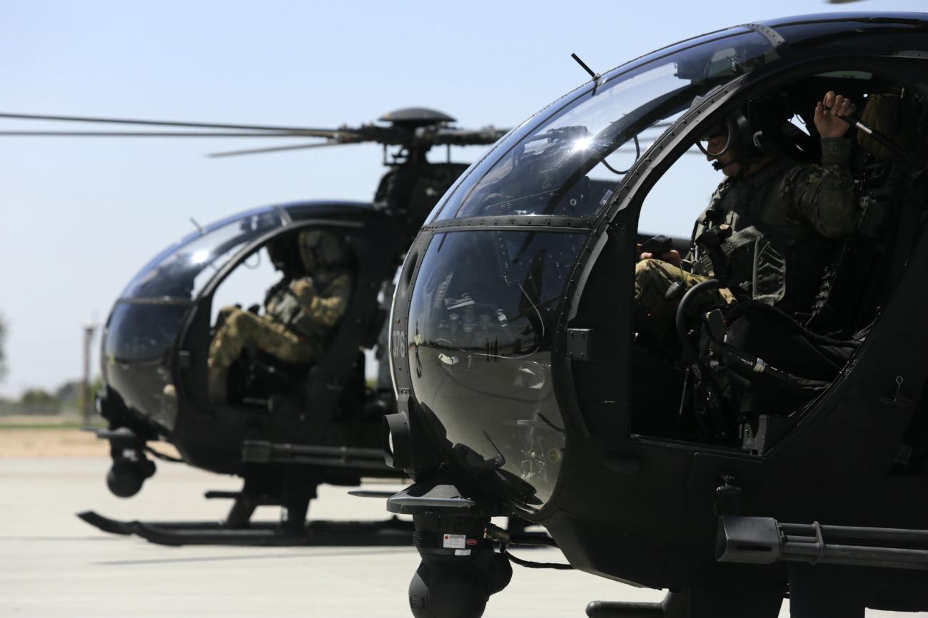 MH-6 Little Bird preparation