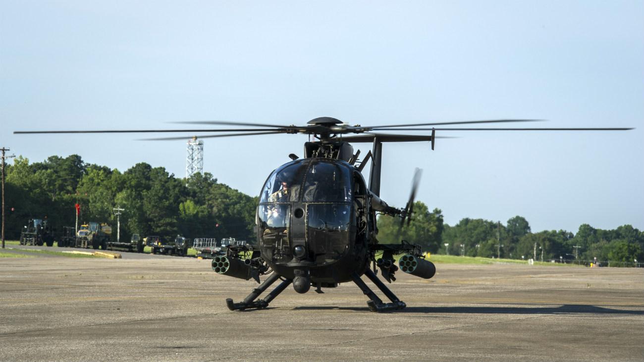 MH-6 Little Bird taking off