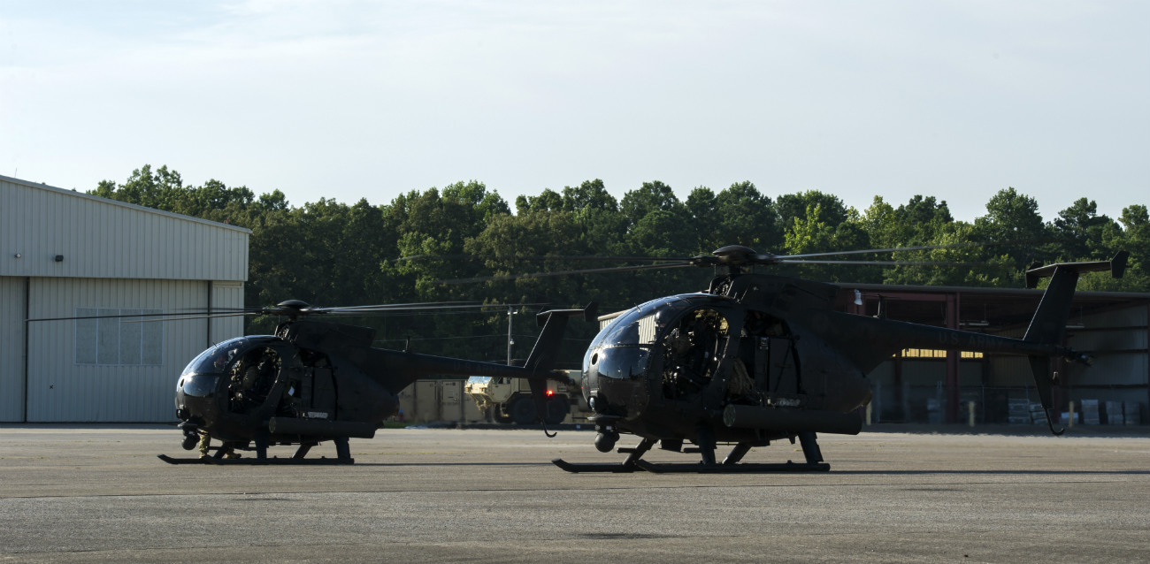 MH-6 Little Birds taking off