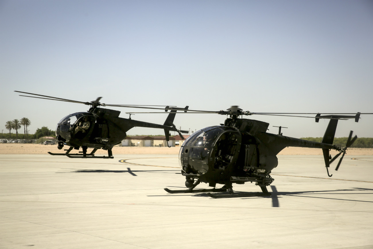 MH-6 Little Birds taking off, MH-6 Images