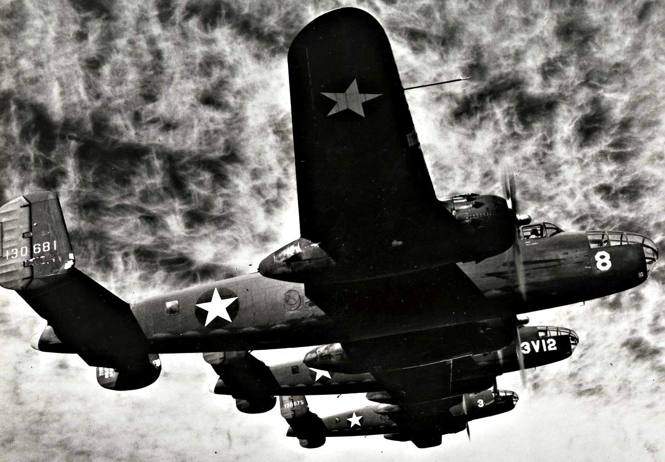 B-25 in Formation
