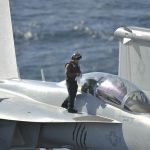 EA-18G Sailor conducts maintenance
