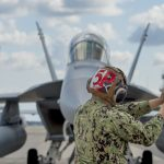 EA-18G pre-flight inspection