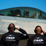 "F-22 Raptor flight crew salutes Maj. Paul ""Loco"" Lopez"