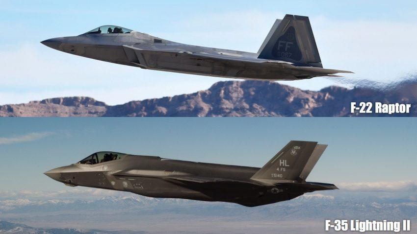 F-22 Raptor vs F-35 Lightning | Cost, Performance, Size, Top Speed