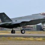 F-35 Lightning during takeoff