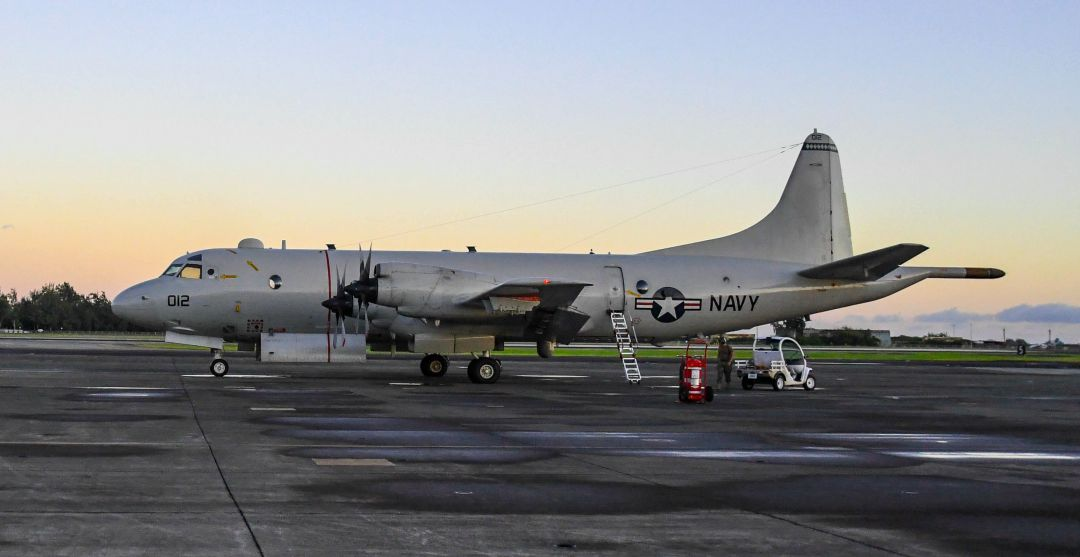 P-3 Orion during maintenance
