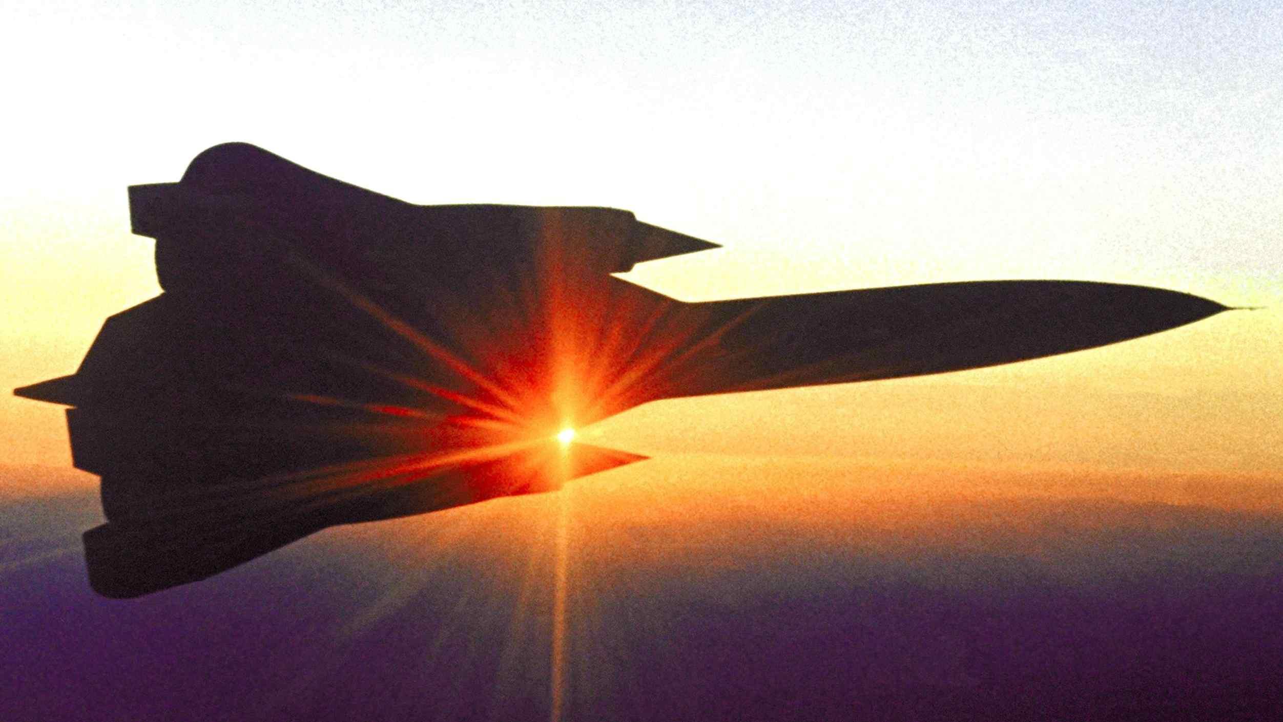 YF-12 in air
