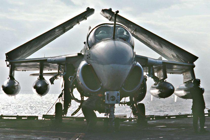 A-6 Intruder wings folded