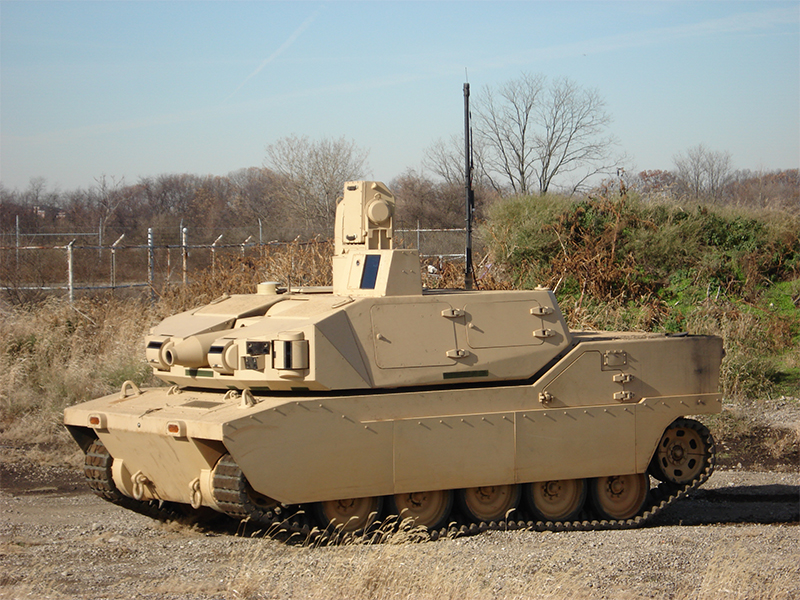 Black Knight Tank in field testing
